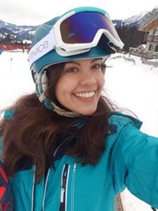 Das ist Michelle und sie genießt Ihren Ski-Urlaub